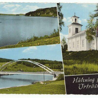 Hälsning från Örträsk Poststämplat 16/8 1991 Ägare: Åke Runnman 10x15