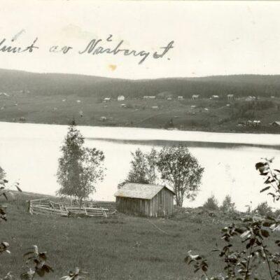 """""""En glimt av Näsberget"""" Postat 1945-07-14 Ägare: Bodil Svalberg 9x14"""