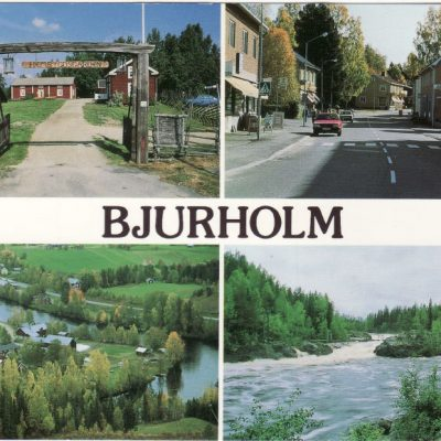 Bjurholm Förlag: Lilian & Lars Servicebutik ABFoto: Oliver RinglöwSkickat 10/7 1993Ägare: Åke Runnman10x15