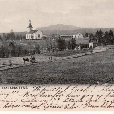 Bjurholm. Vesterbotten C. N:s Lj., Sthlm Poststämplat 7/1 1904 Ägare: Åke Runnman 9x14