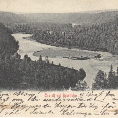 Öre elf vid Bjurholm Adresserat den 21/2 1903 Ägare: Åke Runnman 9x14