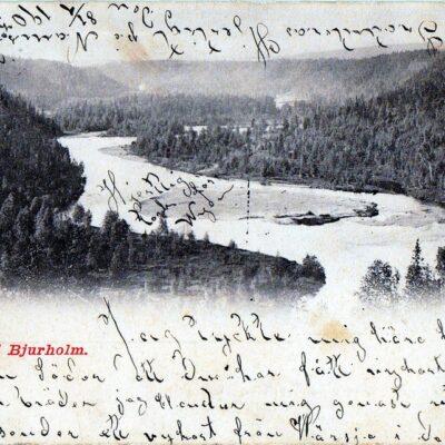 Öre Elf vid Bjurholm Oscar E. Kulls Grafiska Anst., Malmö Poststämplat 17/1 1903 Ägare: Åke Runnman 9x14