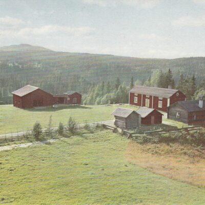 Hembygdsgården Bjurholm med Balberget Förlag: André Olsson, tel. 285, Bjurholm Postat 5/10 1961 Ägare: Åke Runnman 10x15