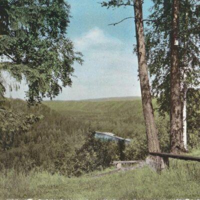 BJURHOLM. Utsikt från hembygdsgården Förlag: Anderssons Bok & Pappershandel, Bjurholm Poststämplat 11/7 1978 Ägare: Åke Runnman 10x15
