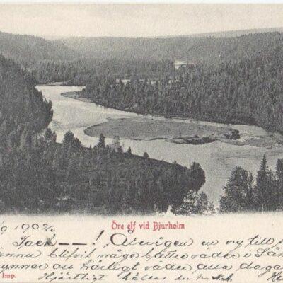 Öre elf vid Bjurholm Paul Heckscher Imp.Poststämplat 14/9 1902Ägare: Åke Runnman9x14