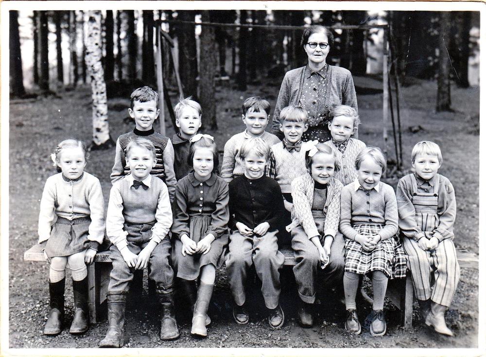 Klass 1 i Örträsk skola 1954