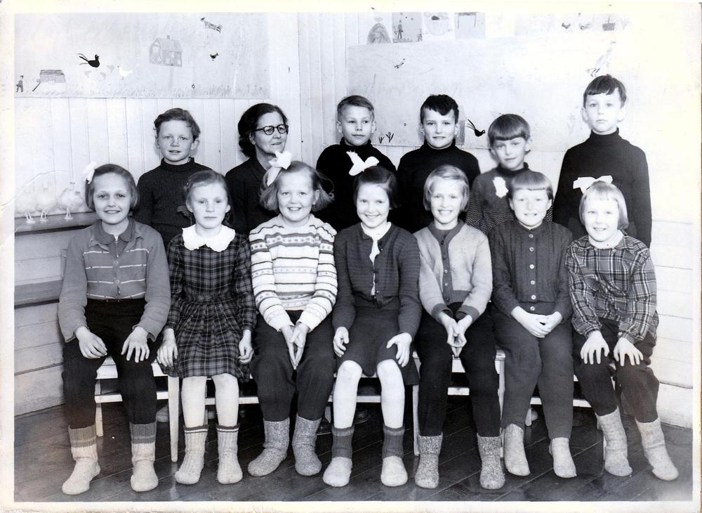 Klass 2 i Örträsk skola 1955