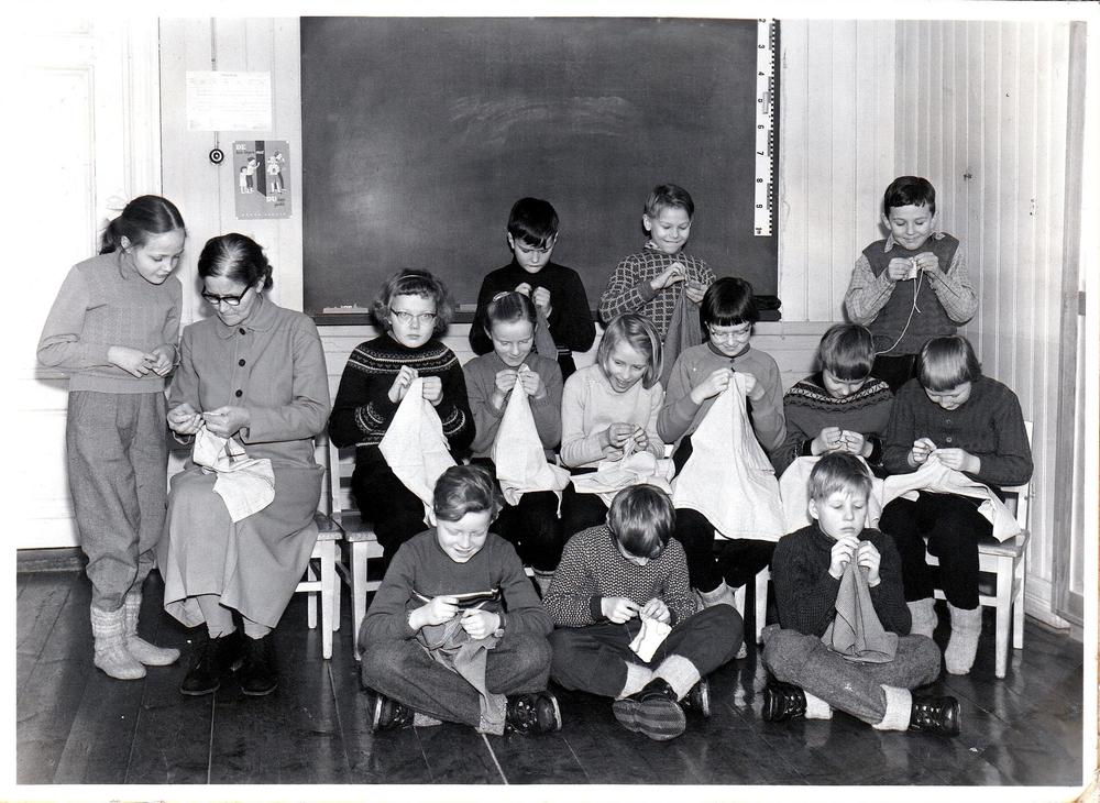 Klass 3 i Örträsk skola 1956