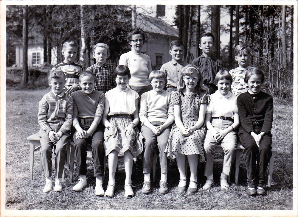 Klass 4 i Örträsk skola 1957