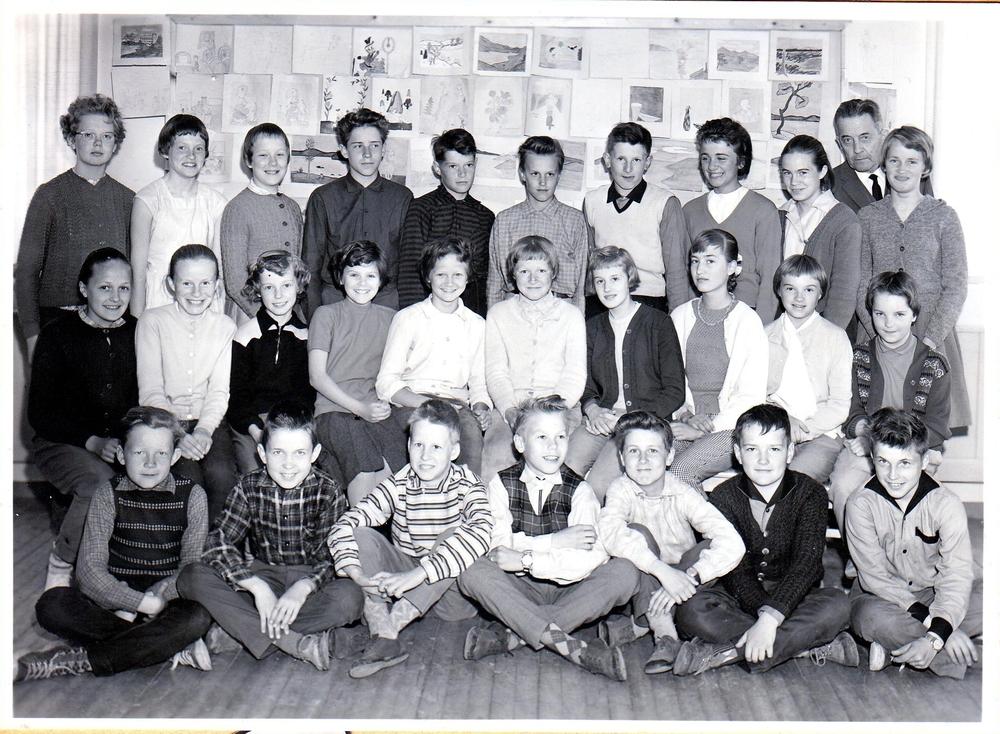 Klass 5 och 6 i Örträsk skola 1958