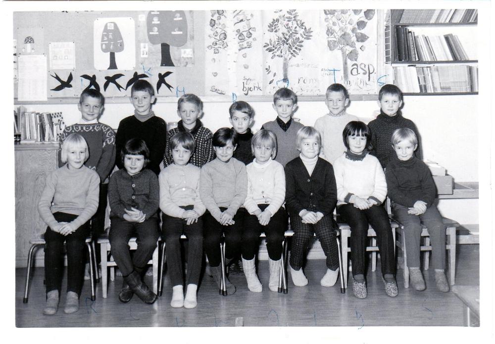 Klass 1 i Örträsk skola 1967