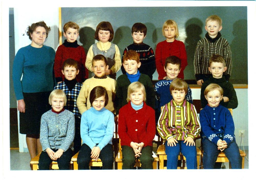 Klass 2 i Örträsk skola 1968
