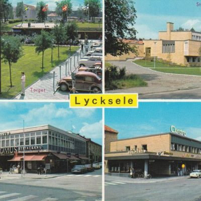 Lycksele, Lappland, Sweden Copyright: Grönlunds Foto, Skansholm Poststämplat 31/1 1986 Ägare: Åke Runnman 10x15
