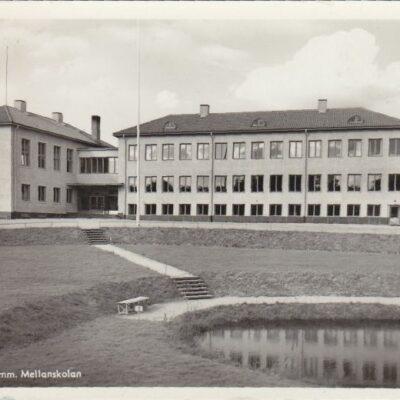 LYCKSELE. Komm. Mellanskolan Pressbyrån 60449 Poststämplat 14/2 1950 Ägare: Åke Runnman 9x14