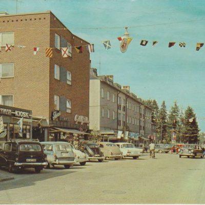 Lycksele. Storgatan Förlag: Bodéns Bokhandel i Lycksele AB Poststämplat 20/7 1974 Ägare: Åke Runnman 10x15