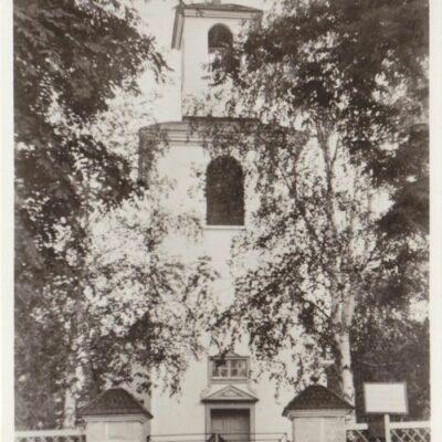 Fredrika kyrka Förlag: Forsgrens Pappershandel, Fredrika Poststämplat: 1/9 1947 Ägare: Åke Runnman