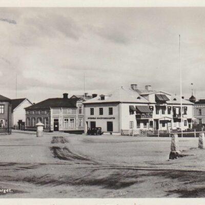 LYCKSELE Torget A.B. Alga Stockholm 60106 Poststämplat 17/7 1955 Ägare: Åke Runnman 9x14