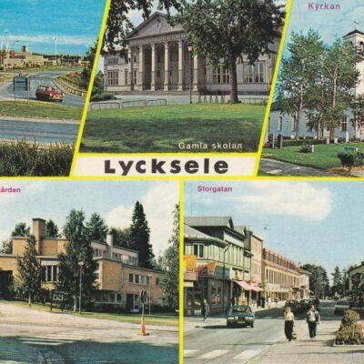 Lycksele Copyright: Grönlunds Foto, Skansholm, Vilhelmina Poststämplat 26/7 1982 Ägare: Åke Runnman 10x15