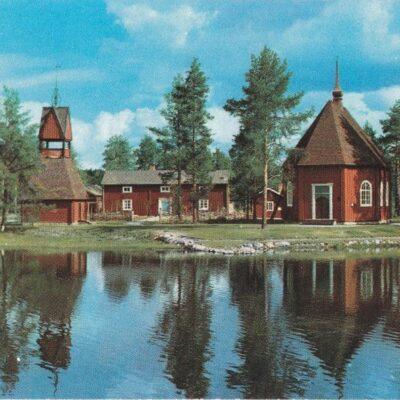 Lillkyrkan, Gammplatsen, Lycksele Rekonstr. av 1736 års kyrka Copyright: Grönlunds Foto, Skansholm Ocirkulerat Ägare: Åke Runnman 10x15