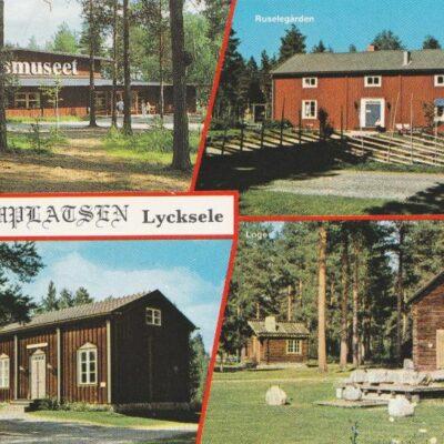 Gammplatsen, Lycksele, Lappland, Sweden Grönlunds Foto, Skansholm, Vilhelmina Poststämplat 8/9 1997 Ägare: Åke Runnman 10x15