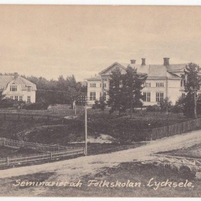 Seminariet och Folkskolan. Lycksele Gust. S Bodéns Bok & Pappershandel Ocirkulerat Ägare: Åke Runnman 9x14