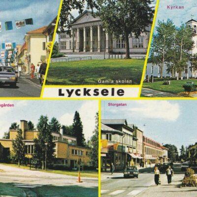 Lycksele, vid Blå Vägen - E79, Lappland Sweden Copyright: Grönlunds Foto, Skansholm, Vilhelmina Ocirkulerat Ägare: Åke Runnman 10x15
