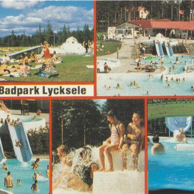 Ansia badpark Lycksele Copyright: Grönlunds foto, Skansholm, Vilhelmina Poststämplat 16/1 2002 Ägare: Åke Runnman 10x15