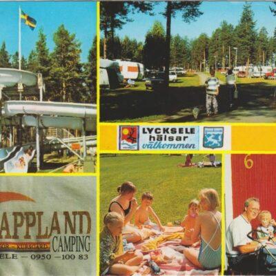Lappland Camping, Lycksele, Sweden Förlag: Grönlunds Foto, Skansholm, Vilhelmina Poststämpel oläslig Ägare: Ivar Söderlind 10x15