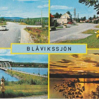 Blåvikssjön. Lycksele Copyright: Grönlunds Foto, Skansholm Poststämplat 1/7 1976 Ägare: Åke Runnman 10x15