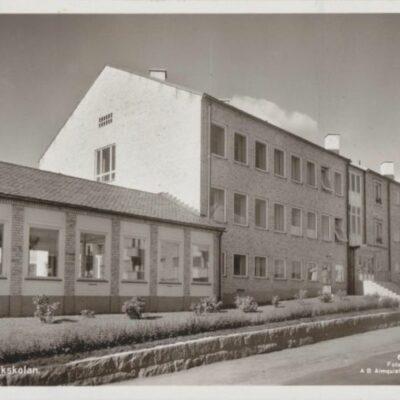 Lycksele. Folkskolan Förlag: Bodéns Bokhandel, K/B, Lycksele Poststämplat 10/7 1959 Husbondliden Lapplandsveckan Ägare: Åke Runnman 9x14