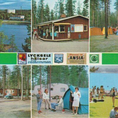 Ansia Campingplats, Lycksele, Sweden Copyright: Grönlunds Foto, Skansholm Ocirkulerat Ägare: Åke Runnman 10x15