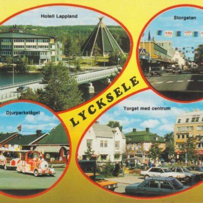 LYCKSELE Copyright: Grönlunds Foto, Skansholm, Vilhelmina Poststämplat 6/10 1993 Ägare: Åke Runnman 10x15