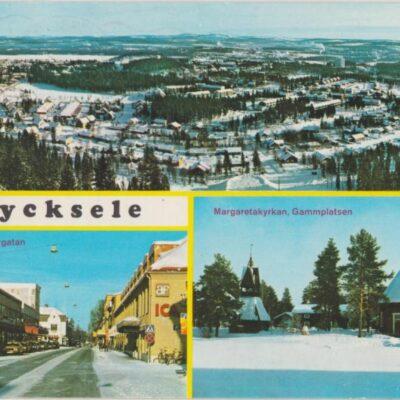 Lycksele Copyright: Grönlunds Foto, Skansholm Poststämplat 6/4 1981 Ägare: Åke Runnman 10x15