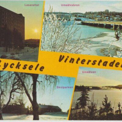 Lycksele vinterstaden Copyright: Grönlunds Foto, Skansholm Ocirkulerat Ägare: Åke Runnman 10x15