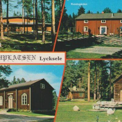 Gammplatsen, Lycksele, Lappland, Sweden Grönlunds Foto, Skansholm, Vilhelmina Ocirkulerat Ägare: Åke Runnman 10x15