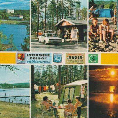 Ansia Campingplats. Lycksele. Sweden Copyright: Grönlunds Foto, Skansholm, Vilhelmina Poststämplat ?/? 1980 Ägare: Åke Runnman 10x15
