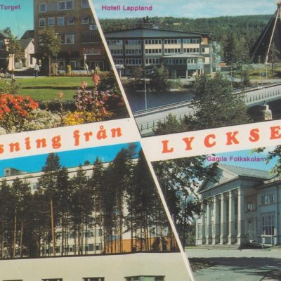 Hälsning från LYCKSELE Copyright: Grönlunds Foto, Skansholm, Vilhelmina Poststämpel oläslig Ägare: Ivar Söderlind 10x15