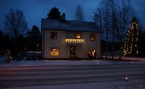 Julskyltning i Örträsk 2015