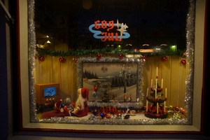 Julskyltning i Örträsk