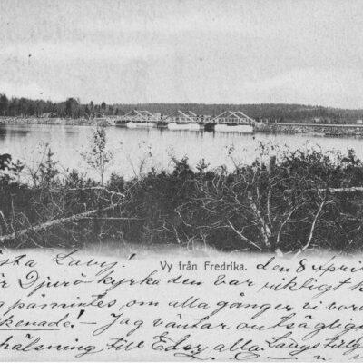 Vy från Fredrika Poststämplat 8/4 1902 Ägare: Åke Runnman