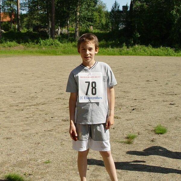 Segraren i yngsta pojkklassen Jakob Dahlgren,  Örträsk SK. (Foto: Agneta Höglund)