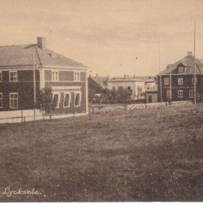 Parti av Lycksele Förlag: Gust. S. Bodéns Bokhandel, Lycksele N:o 24182 Poststämplat 25/7 1928 Ägare: Åke Runnman 9x14