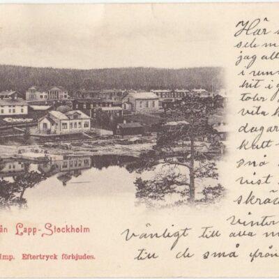 Parti från Lapp-Stockholm A & C Imp.  Poststämplat 1904 Ägare: Åke Runnman 9x14