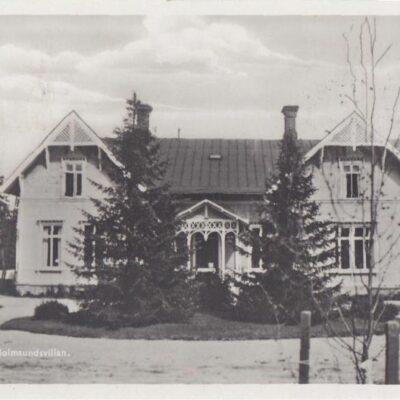 LYCKSELE. Holmsundsvillan Förlag: Gust. S. Bodéns Bokhandel, Lycksele Sistadagsstämpel Sölvesborg 31/3 1992 Ägare: Åke Runnman 9x14