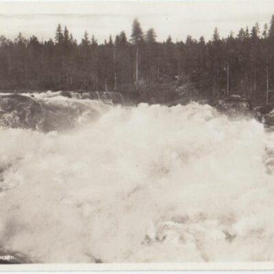 Lycksele. Bålforsen Förlag: Gust. S. Bodéns Bokhandel, Lycksele Poststämplat 6/2 1941 Ägare: Åke Runnman 9x14