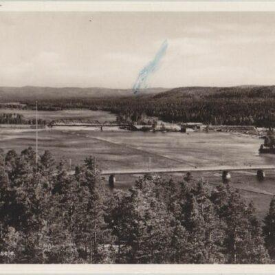 Ume älv, Lycksele Förlag: Bodéns Bokhandel, K/B, Lycksele Poststämplat 14/8 1949 Ägare: Åke Runnman 9x14