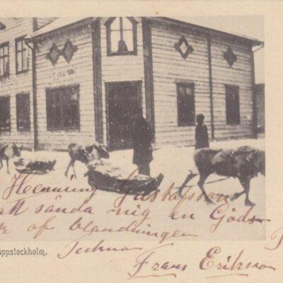 Gata i Lappstockholm 2720 Poststämplat 9/1 1906 Ägare: Åke Runnman 9x14