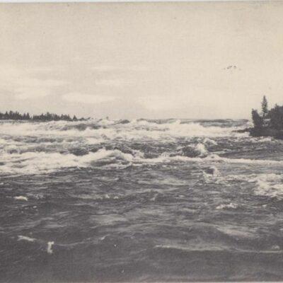 Hällforsen. Lycksele Förlag: Gust. S. Bodéns Bokhandel, Lycksele Poststämplat 24/6 1919 Ägare: Åke Runnman 9x14