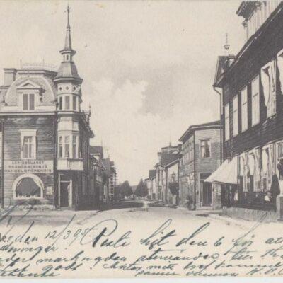 Lycksele Foto: I. A. Harnesk Poststämplat 13/5 1905 Ägare: Åke Runnman 9x14