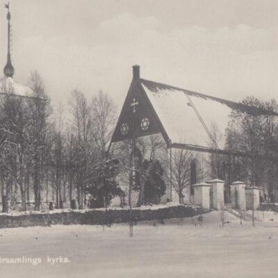 Umeå landsförsamlings kyrka Förlag: Hjortsbergs Pappershandel Ocirkulerat Ägare: Ivar Söderlind 9x14